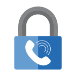 Blue Security Lock Phone Icon