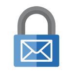 Blue Security Lock Mail Icon